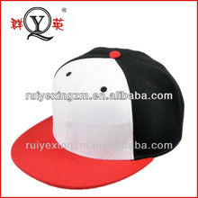 Trucker Cap White and Black Red Snapback Colorful Outdoor Hat For Adults