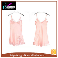 women sexy lacey silk nightgown