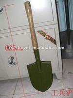 china military shovel with wood handle