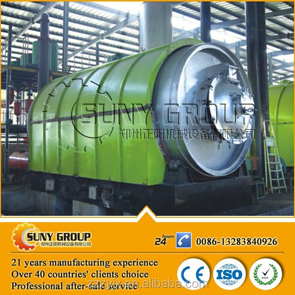 Good quality hot sale waste tyre to diesel pyrolysis machine