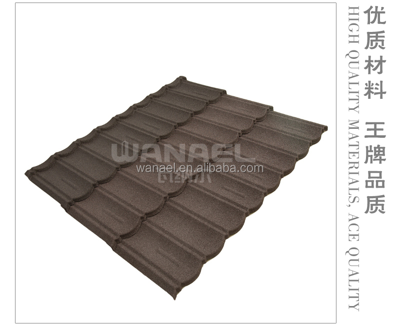 Non color fade stone coated steel roofing sheet