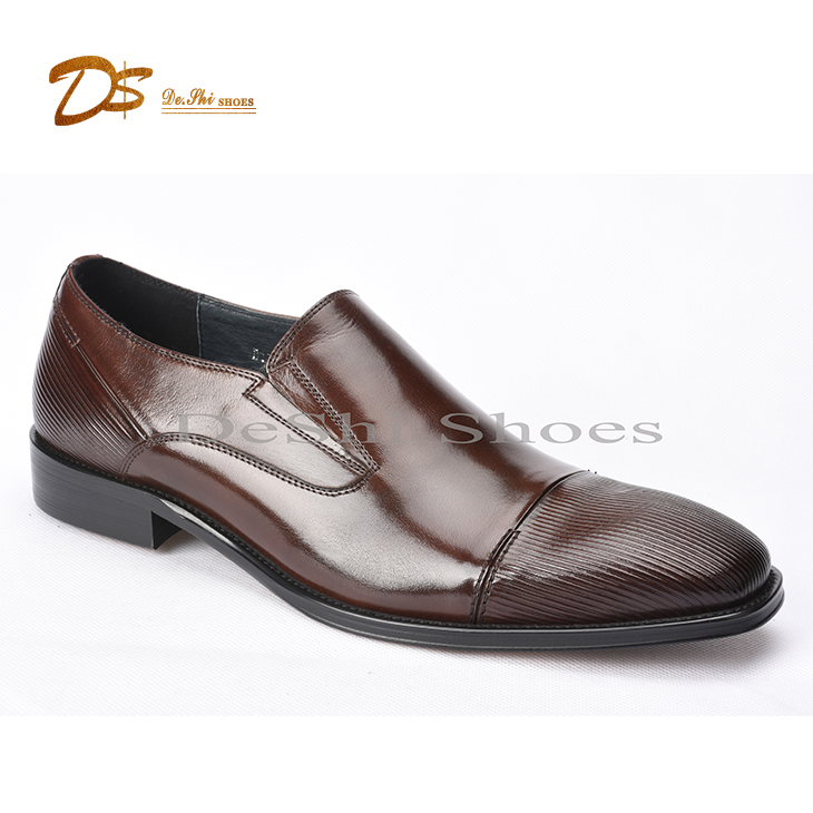 fashion men leather slip on loafer, thick cow leather shoes, dress shoes men