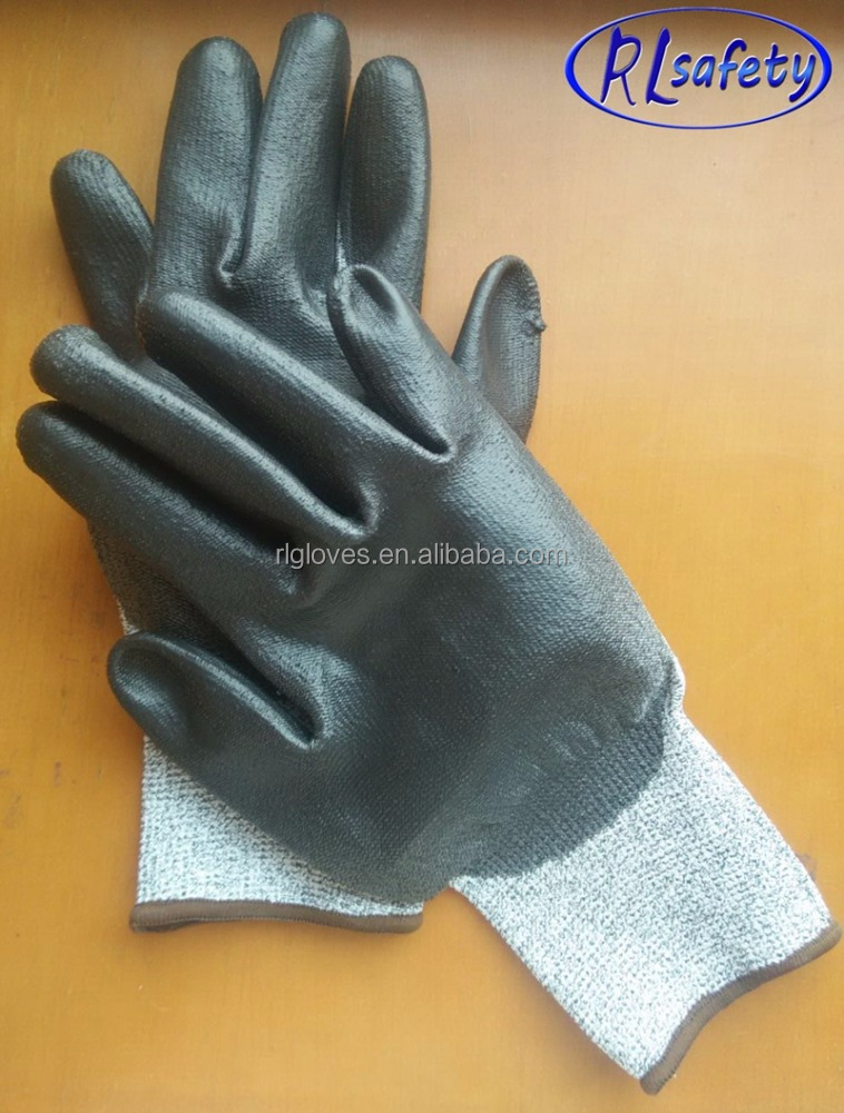 polyester/nylon dipping pu industrial safety work glove en388 4131