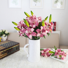 2017 New Factory Wholesale European style Single Stem Fake Flower Lily