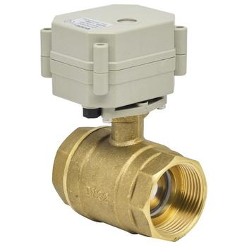 1-1/4'' brass 2-way  indicator and manual override electric motorized water ball valve
