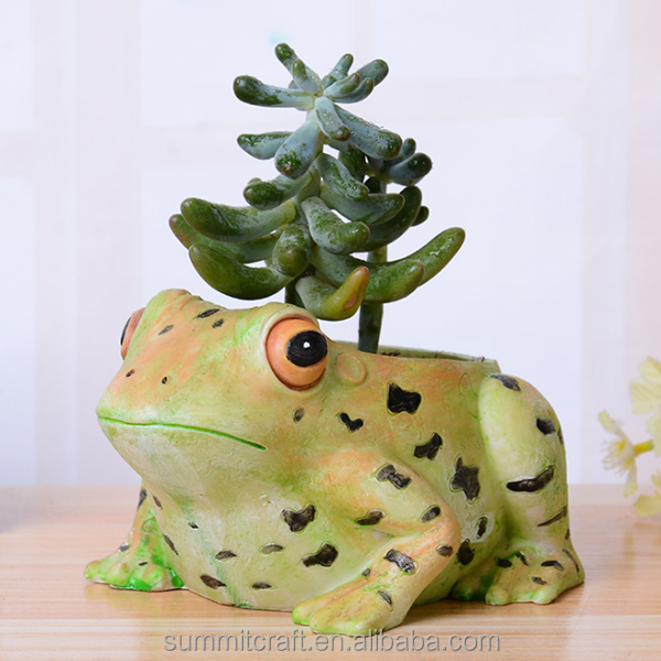 Resin frog flower pot garden plant pot
