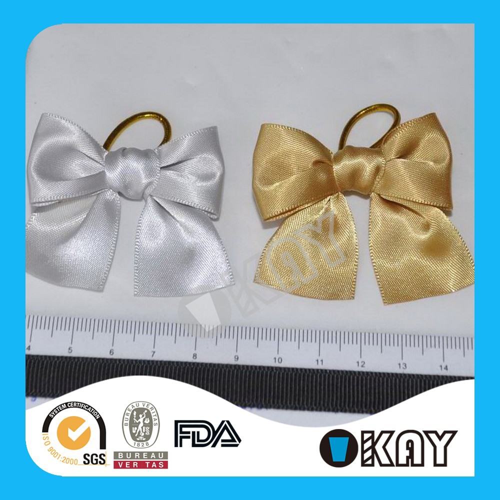 Factory Wholesale Satin Ribbon Bows with Holder