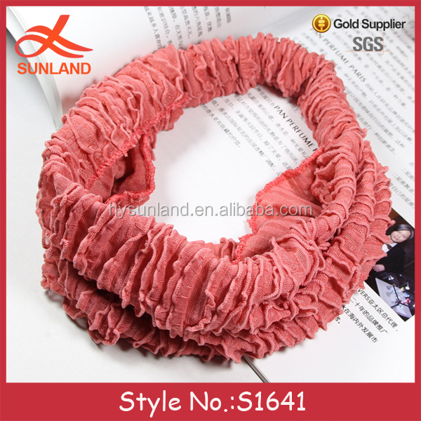 S1641 hot sale 2016 bridal hair accessories caterpillars wide lace headbands for women girls wholesale