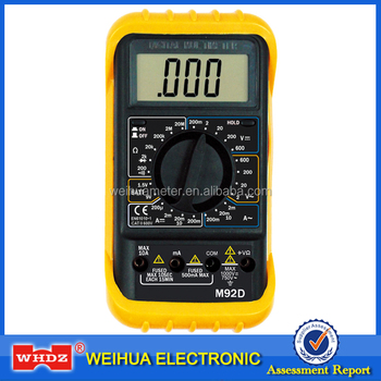 High Precise Digital Multimeter CE M92Dwith with Buzzer Battery Test