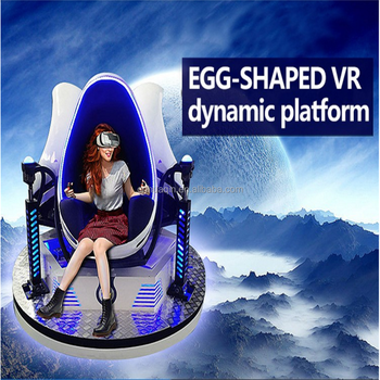 360 degree rotating platform VR online movies VR egg cinema game simulator