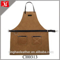 Handmade Waxed Canvas Apron Mens Work Apron Barber Chef Apron