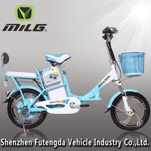 lady likes mini electric bike