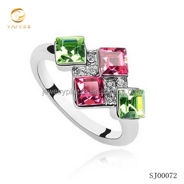 AAA stone colored gemstone ring/925 sterling silver ring/arabic wedding rings