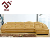New l shaped sofa designs in yellow leather