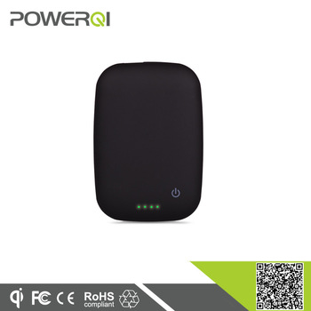 High quality cell phones accessories mini qi mobile wireless charger power bank, portable battery charger qi (T-410)