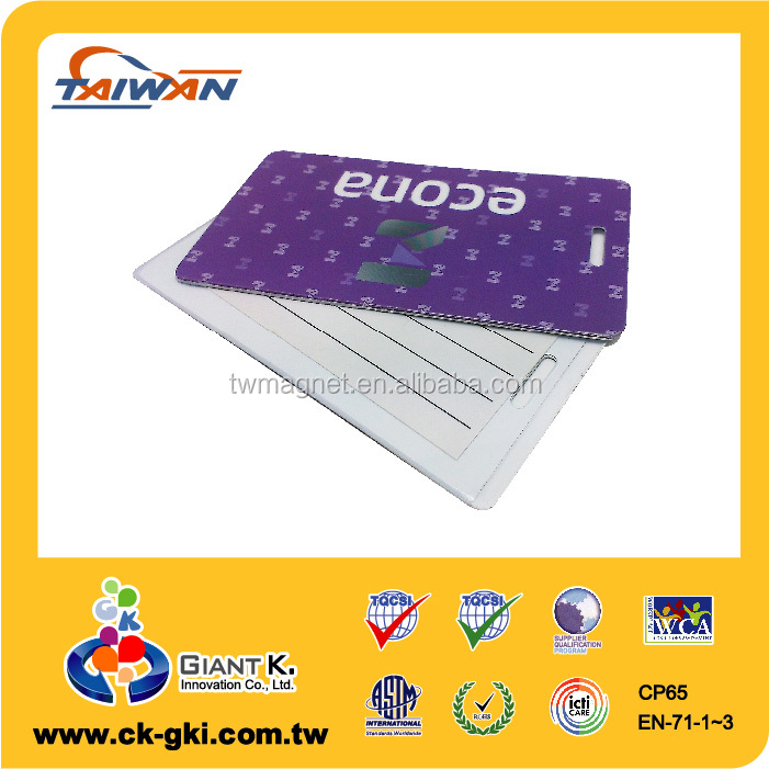 Wholesale Custom Plastic hard pvc personalized luggage tags