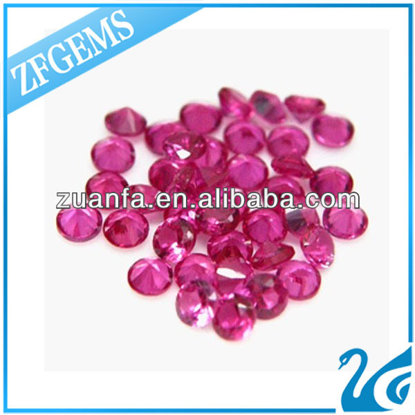 2mm lab created round ruby stones bulk buy from China