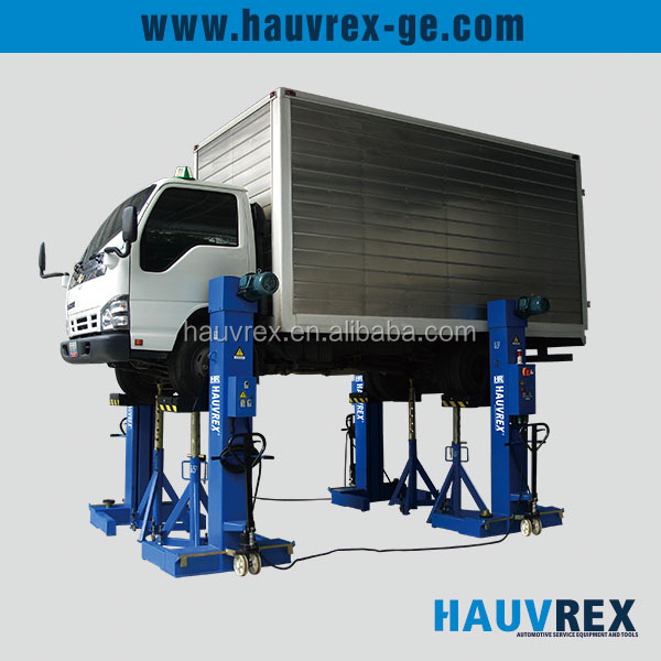 Mobile/movable bus truck column lift, heavy duty car lift, electro-mechanical column lift