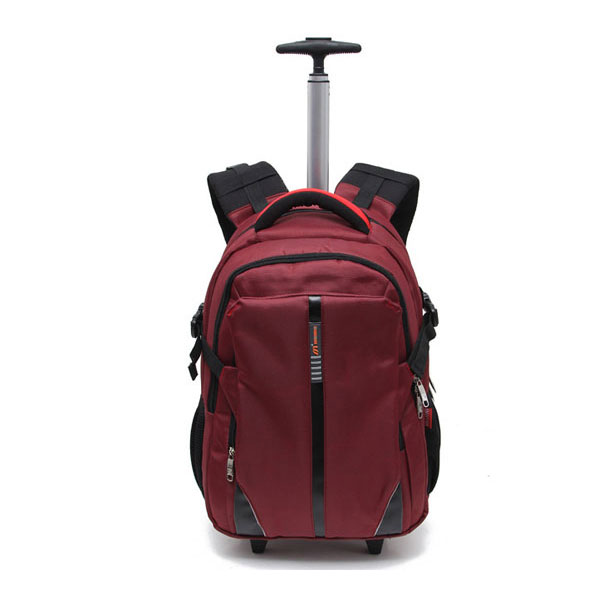 2-in-1 Popular Waterproof Laptop Trolley Bag, Laptop Rolling Backpack
