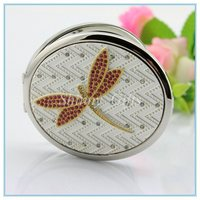 Women's Fashion Dragonfly Cosmetic Mirror Portable Mirror