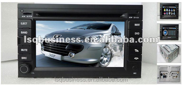 hot-selling peugeot 307 auto central multimedia dvd player with gps/radio/canbus/ipod/pip/TV on-sale!hot!drive your life!