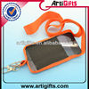 Promotional phone lanyard with elastic pouch