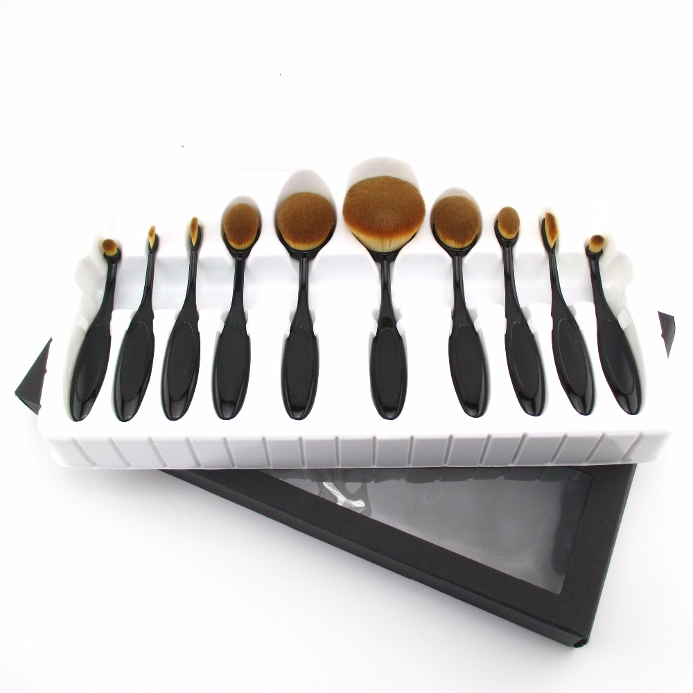 Hot Selling teeth brush style Makeup Color Cosmetic Brush Set