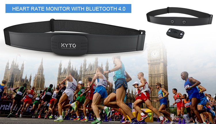 KYTO original accurate bluetooth heart rate chest strap monitor
