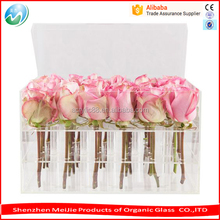 Best selling acrylic flower holder container / plexiglass rose display stand wholesale