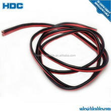 Pair twist wire speaker cable 0.5mmm2 flexible copper conductor RED and blace color parellal wire