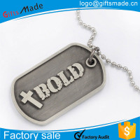 Stainless steel engrave dog tag blanks with necklaces