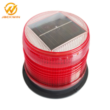 Bright Rotating Solar LED Warning Beacon Lights/Yellow&Red Traffic Signal Strobe Beacon For Cars