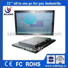 22inch all in one panel pc/Intel 530 Dual-Core 2.93G CPU/ i3 processor/5 wire resistive/