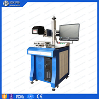 Huahai laser machine Desktop Fiber laser Marking Machine 10w/20w/30w Metal tube name plate/plastic parts laser marking