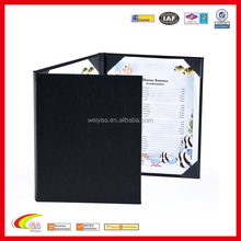 Restaurant Menu Book Printing with A4 paper writing