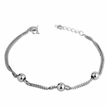2017 925 sterling jewelry bangle charm silver bracelet for women