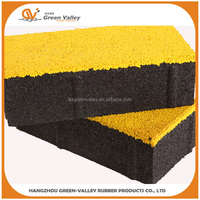 Multi-color recycle Rubber paving tiles