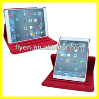 2014 factory price Case For Apple iPad 5 Air 360 Degree Rotating PU Leather Cover Stand