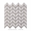 Hot sales white marble chevron mosaics for bathroom floor