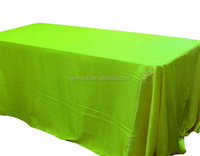 100% Satin Rectangle Tablecloth for wedding/party/home used