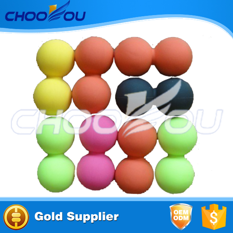 New Double Lacrosse Massage Ball Silicone Peanut Ball