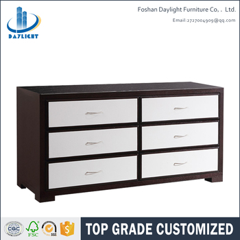 Contemporary simple design wooden drawer sideboard dining room furniture