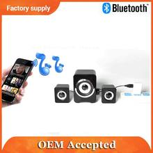 Three pieces combined big size best bass sound cubic bluetooth speaker