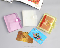 2015 Cheap Promotional PVC Business Name Credit Card 24 Bank Card Bag Case Card Holder WITH clear cover