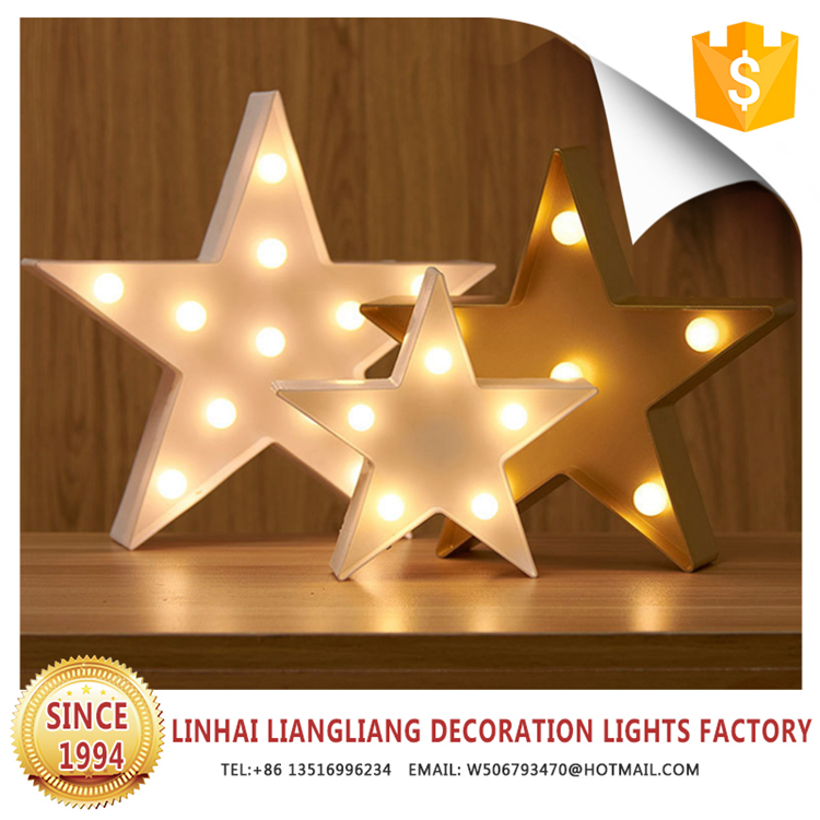 factory wholesale christmas star ornament with led light