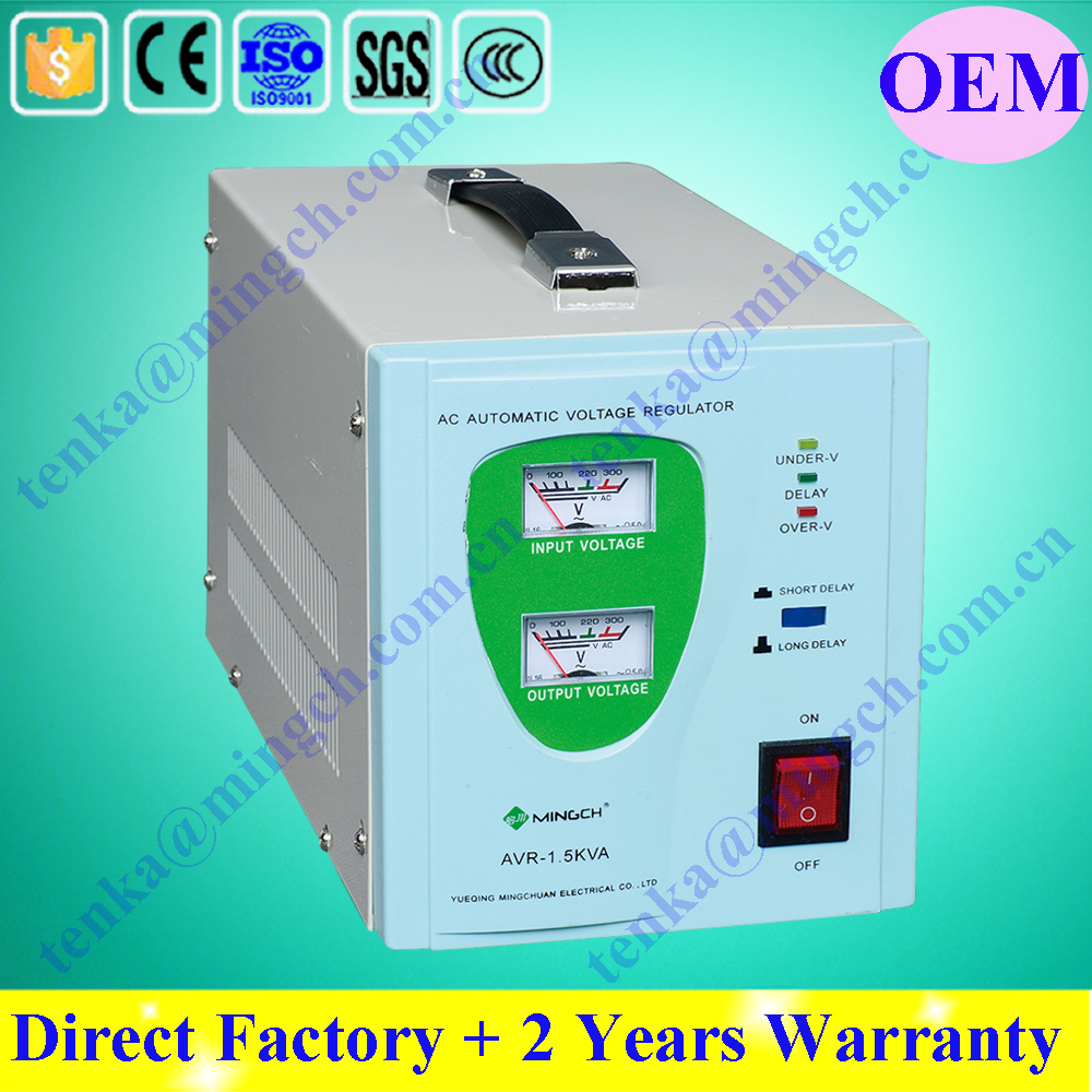 Single Phase Relay Type AVR, SVR 1500va AC automatic voltage stabilizer