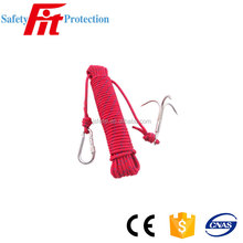 New Outdoor mountaineering Life line safety rope with hook Stainless steel Survival Equipment Camping hooks Climbing claw