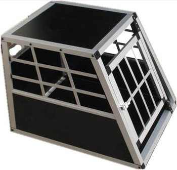 Small single door / ellipse tube Alu dog cage for sale in china