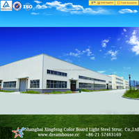 Light steel structure building/prefabricated certificated large span metal warehouse