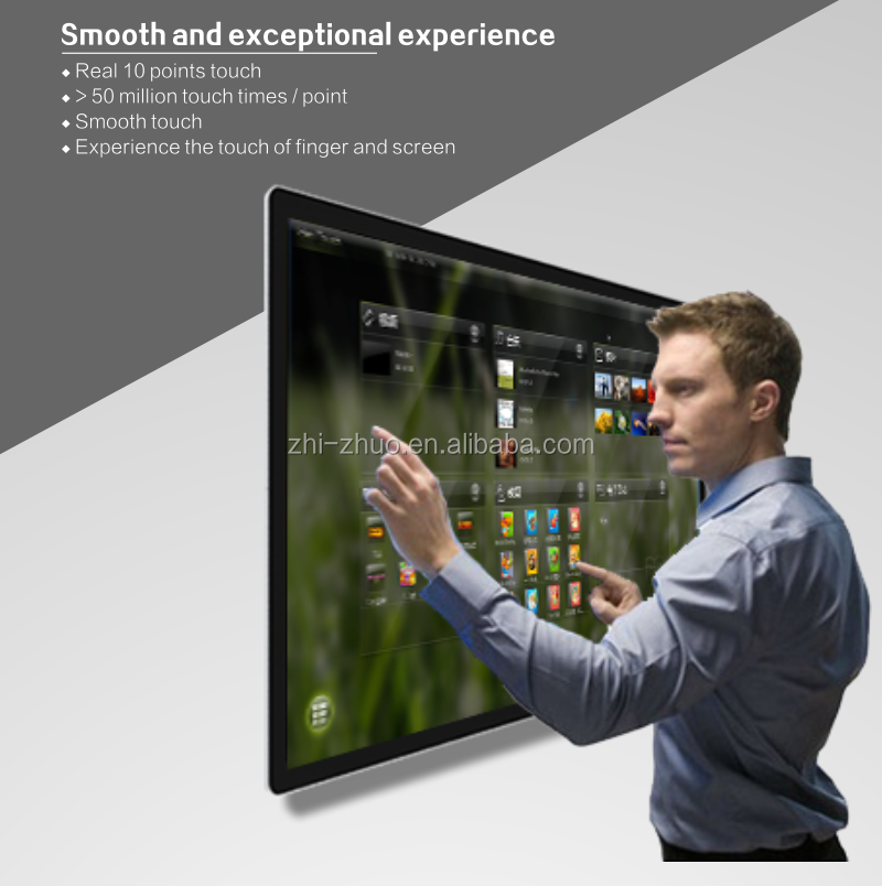 wall mounted touch <strong>screen</strong> for advertising player with 55 inch lcd tablet